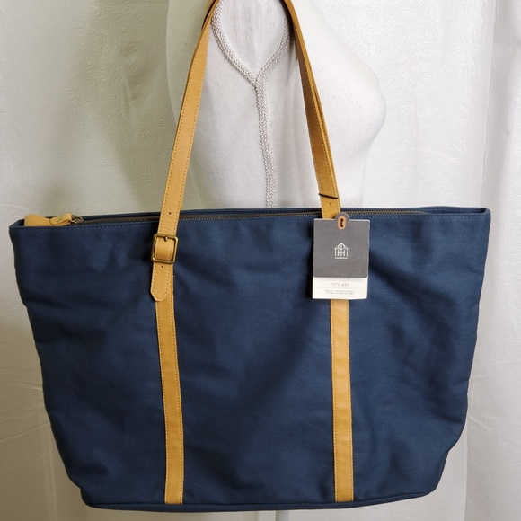 Hearth & Hand Handbags - Large Tote Canvas and Leather